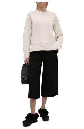 Женские сандалии trace fff STELLA MCCARTNEY черного цвета, арт. 800391/N0245 | Фото 2 (Материал внешний: Экокожа; Материал внутренний: Текстиль; Подошва: Платформа; Каблук высота: Низкий)