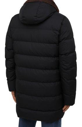 Мужская пуховик с меховой подкладкой vezzoli-gf MOORER темно-синего цвета, арт. VEZZ0LI-GF/M0UPI100006-TEPA012/60-68 | Фото 4 (Кросс-КТ: Куртка; Big sizes: Big Sizes; Мужское Кросс-КТ: пуховик-короткий; Рукава: Длинные; Длина (верхняя одежда): До середины бедра; Материал внешний: Синтетический материал; Материал утеплителя: Пух и перо; Стили: Кэжуэл)
