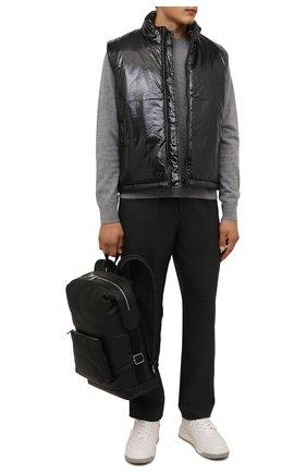 Мужской шерстяной свитер ACNE STUDIOS серого цвета, арт. C60042/M | Фото 2 (Материал внешний: Шерсть; Мужское Кросс-КТ: Свитер-одежда; Принт: Без принта; Стили: Минимализм; Рукава: Длинные; Длина (для топов): Стандартные)