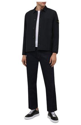 Мужская утепленная куртка STONE ISLAND темно-синего цвета, арт. 751511525 | Фото 2 (Материал подклада: Синтетический материал; Материал внешний: Хлопок, Синтетический материал; Рукава: Длинные; Длина (верхняя одежда): Короткие; Кросс-КТ: Куртка; Мужское Кросс-КТ: утепленные куртки; Стили: Кэжуэл)