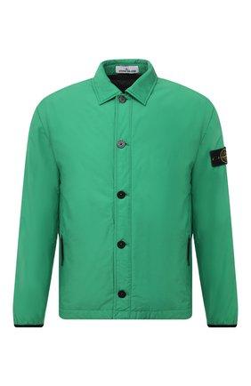 Мужская утепленная куртка STONE ISLAND зеленого цвета, арт. 751511525 | Фото 1 (Длина (верхняя одежда): Короткие; Материал внешний: Хлопок, Синтетический материал; Материал подклада: Синтетический материал; Рукава: Длинные; Кросс-КТ: Куртка; Мужское Кросс-КТ: утепленные куртки; Стили: Кэжуэл)
