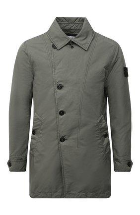 Мужской утепленный плащ STONE ISLAND хаки цвета, арт. 751542149 | Фото 1 (Материал подклада: Синтетический материал; Материал внешний: Синтетический материал; Мужское Кросс-КТ: Плащ-верхняя одежда; Рукава: Длинные; Стили: Милитари; Длина (верхняя одежда): До середины бедра)