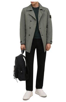 Мужской утепленный плащ STONE ISLAND хаки цвета, арт. 751542149 | Фото 2 (Материал подклада: Синтетический материал; Материал внешний: Синтетический материал; Мужское Кросс-КТ: Плащ-верхняя одежда; Рукава: Длинные; Стили: Милитари; Длина (верхняя одежда): До середины бедра)