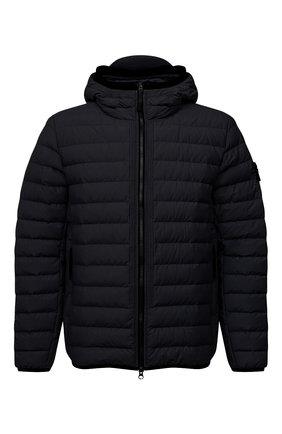 Мужская пуховая куртка STONE ISLAND темно-синего цвета, арт. 751542725 | Фото 1 (Материал утеплителя: Пух и перо; Материал подклада: Синтетический материал; Материал внешний: Хлопок, Синтетический материал; Длина (верхняя одежда): Короткие; Кросс-КТ: Куртка; Мужское Кросс-КТ: пуховик-короткий; Стили: Кэжуэл; Рукава: Длинные)