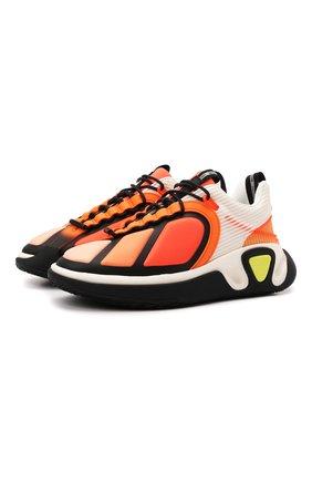 Мужские кроссовки b-runner BALMAIN оранжевого цвета, арт. WM1VI261/TPSP   Фото 1 (Материал внутренний: Натуральная кожа, Текстиль; Подошва: Массивная; Материал внешний: Текстиль; Стили: Гранж)