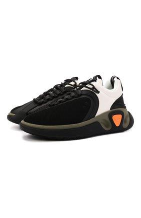 Мужские кроссовки b-runner BALMAIN черно-белого цвета, арт. WM1VI261/TRLK | Фото 1 (Материал внутренний: Натуральная кожа, Текстиль; Материал внешний: Текстиль; Подошва: Массивная; Стили: Гранж)