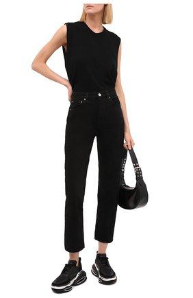 Женские кожаные кроссовки b-bold BALMAIN черного цвета, арт. WN1VI541/TRPY   Фото 2 (Материал внутренний: Натуральная кожа; Подошва: Платформа)