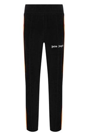 Мужские хлопковые брюки PALM ANGELS черного цвета, арт. PMCA007F21FAB0101001 | Фото 1 (Материал внешний: Хлопок; Случай: Повседневный; Стили: Кэжуэл, Спорт-шик; Длина (брюки, джинсы): Стандартные)
