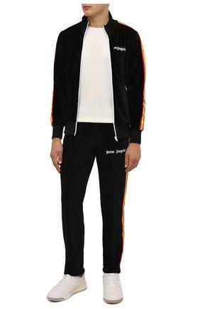 Мужские хлопковые брюки PALM ANGELS черного цвета, арт. PMCA007F21FAB0101001 | Фото 2 (Материал внешний: Хлопок; Случай: Повседневный; Стили: Кэжуэл, Спорт-шик; Длина (брюки, джинсы): Стандартные)