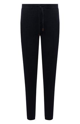 Мужские джоггеры MARCO PESCAROLO темно-синего цвета, арт. FREETIME/ZIP/4452 | Фото 1 (Материал внешний: Шерсть; Силуэт М (брюки): Джоггеры; Мужское Кросс-КТ: Брюки-трикотаж; Стили: Спорт-шик; Длина (брюки, джинсы): Стандартные)
