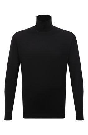 Мужской хлопковая водолазка BRIONI черного цвета, арт. UJIU0L/01608 | Фото 1 (Длина (для топов): Стандартные; Материал внешний: Хлопок; Рукава: Длинные; Мужское Кросс-КТ: Водолазка-одежда; Стили: Классический; Принт: Без принта)