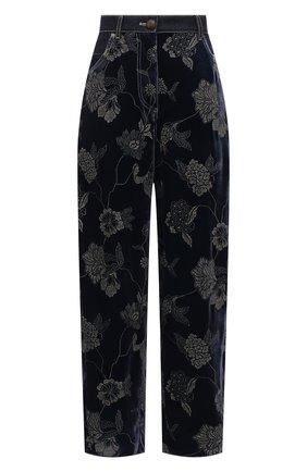 Женские джинсы GIORGIO ARMANI темно-синего цвета, арт. 1WHPP0KT/T02XH | Фото 1 (Материал внешний: Вискоза; Длина (брюки, джинсы): Стандартные; Стили: Кэжуэл; Кросс-КТ: Деним; Силуэт Ж (брюки и джинсы): Прямые)