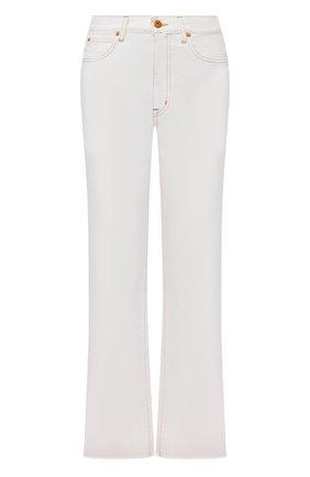 Женские джинсы SLVRLAKE белого цвета, арт. PF21/GRCJ407P/NATW | Фото 1 (Материал внешний: Хлопок; Длина (брюки, джинсы): Стандартные; Стили: Кэжуэл; Кросс-КТ: Деним; Силуэт Ж (брюки и джинсы): Расклешенные)