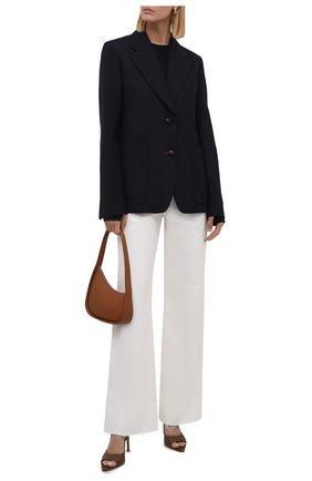 Женские джинсы SLVRLAKE белого цвета, арт. PF21/GRCJ407P/NATW | Фото 2 (Материал внешний: Хлопок; Длина (брюки, джинсы): Стандартные; Стили: Кэжуэл; Кросс-КТ: Деним; Силуэт Ж (брюки и джинсы): Расклешенные)