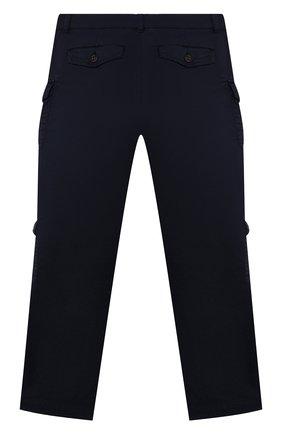 Детские хлопковые брюки BRUNELLO CUCINELLI синего цвета, арт. B289LP112B | Фото 2 (Материал внешний: Хлопок; Мальчики Кросс-КТ: Брюки-одежда; Ростовка одежда: 10 - 11 лет | 140 - 146см, 8 лет | 128 см)