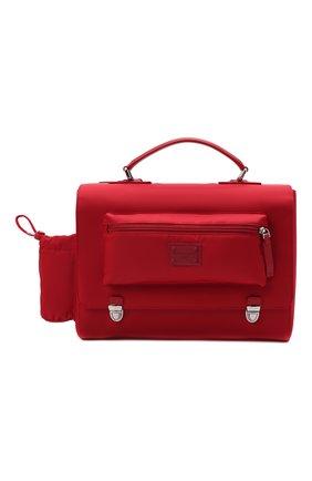Детская портфель DOLCE & GABBANA красного цвета, арт. EM0106/A9416   Фото 1 (Материал: Текстиль)