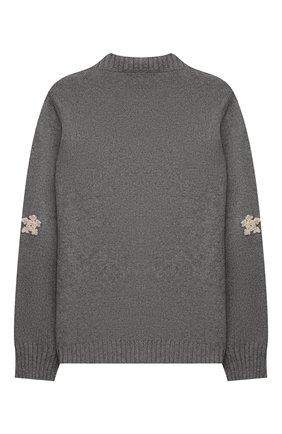 Детский кашемировый пуловер LORO PIANA серого цвета, арт. FAL4321 | Фото 2 (Материал внешний: Шерсть, Кашемир; Рукава: Длинные; Девочки Кросс-КТ: Пуловер-одежда)