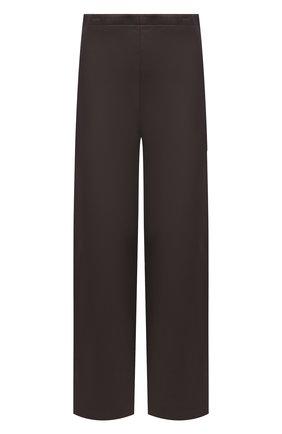 Женские кожаные брюки THEORY коричневого цвета, арт. L0600202   Фото 1 (Материал подклада: Купро; Длина (брюки, джинсы): Стандартные; Стили: Кэжуэл; Женское Кросс-КТ: Брюки-одежда; Силуэт Ж (брюки и джинсы): Широкие)