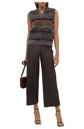 Женские кожаные брюки THEORY коричневого цвета, арт. L0600202   Фото 2 (Материал подклада: Купро; Длина (брюки, джинсы): Стандартные; Стили: Кэжуэл; Женское Кросс-КТ: Брюки-одежда; Силуэт Ж (брюки и джинсы): Широкие)