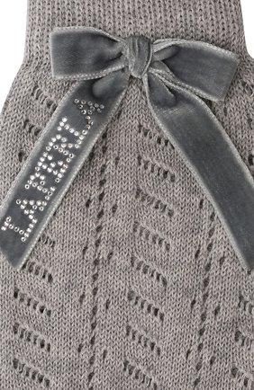 Детские хлопковые гольфы LA PERLA серого цвета, арт. 46062/7-8 | Фото 2 (Материал: Текстиль, Хлопок)