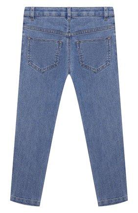 Детские джинсы ERMANNO SCERVINO голубого цвета, арт. ESFPA017 CE50 YSUNI/XXS-S   Фото 2 (Материал внешний: Хлопок, Синтетический материал; Кросс-КТ: джинсы)