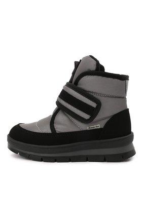 Детские утепленные ботинки JOG DOG серого цвета, арт. 13024R/TU0N0 REFLEX/23-28   Фото 2 (Материал внешний: Экокожа, Текстиль; Материал утеплителя: Шерсть)