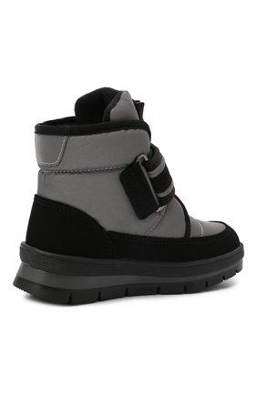 Детские утепленные ботинки JOG DOG серого цвета, арт. 13024R/TU0N0 REFLEX/23-28   Фото 3 (Материал внешний: Экокожа, Текстиль; Материал утеплителя: Шерсть)