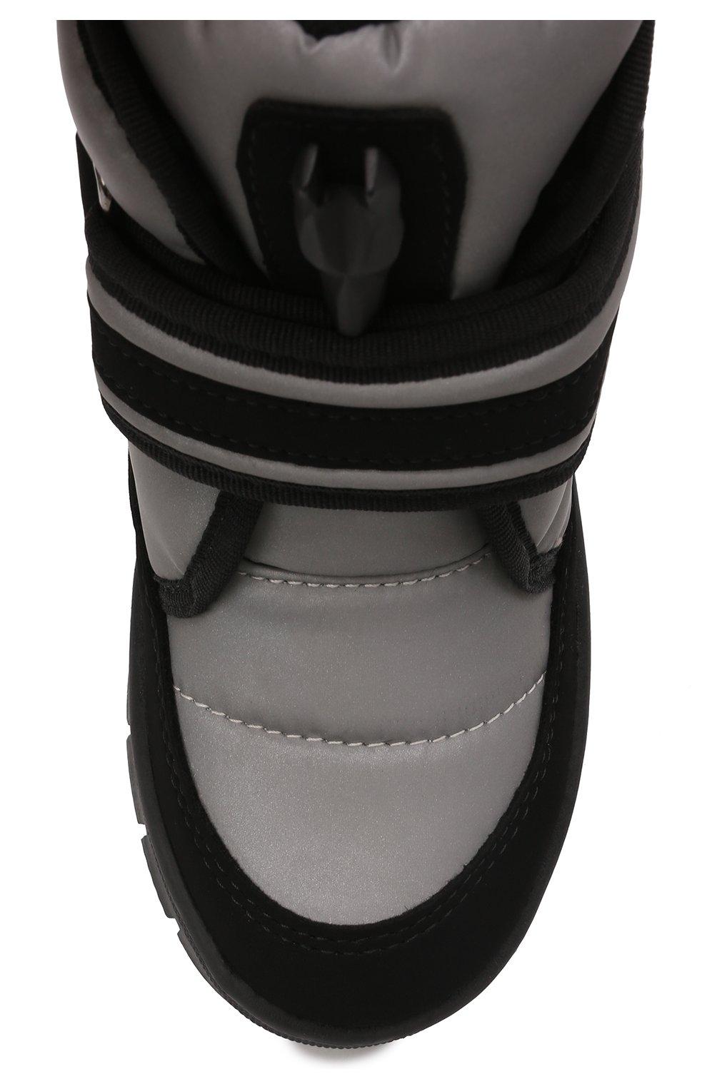 Детские утепленные ботинки JOG DOG серого цвета, арт. 13024R/TU0N0 REFLEX/23-28   Фото 4 (Материал внешний: Экокожа, Текстиль; Материал утеплителя: Шерсть)