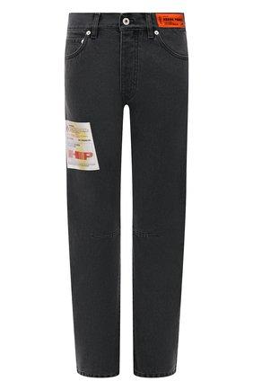 Женские джинсы HERON PRESTON черного цвета, арт. HWYA014F21DEN0011000   Фото 1 (Материал внешний: Хлопок; Длина (брюки, джинсы): Стандартные; Стили: Спорт-шик; Кросс-КТ: Деним; Силуэт Ж (брюки и джинсы): Прямые)