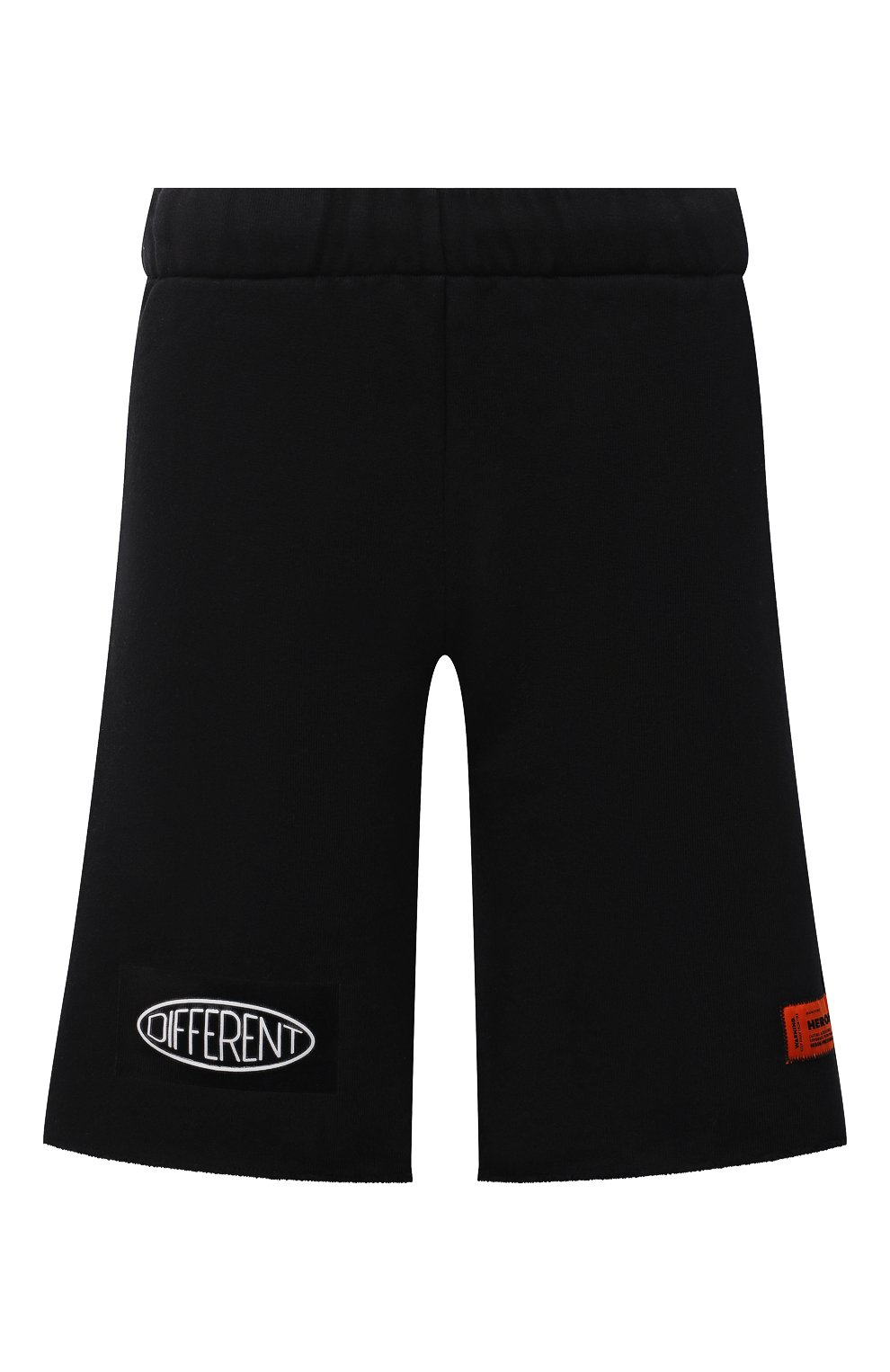 Женские хлопковые шорты HERON PRESTON черного цвета, арт. HWCI002F21JER0011001 | Фото 1 (Женское Кросс-КТ: Шорты-одежда; Длина Ж (юбки, платья, шорты): Мини; Кросс-КТ: Трикотаж; Материал внешний: Хлопок; Стили: Спорт-шик)