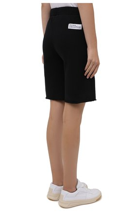 Женские хлопковые шорты HERON PRESTON черного цвета, арт. HWCI002F21JER0011001 | Фото 4 (Женское Кросс-КТ: Шорты-одежда; Длина Ж (юбки, платья, шорты): Мини; Кросс-КТ: Трикотаж; Материал внешний: Хлопок; Стили: Спорт-шик)