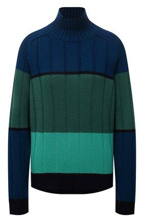Женский кашемировый свитер LORO PIANA зеленого цвета, арт. FAL7027 | Фото 1 (Рукава: Длинные; Длина (для топов): Стандартные; Материал внешний: Кашемир, Шерсть; Стили: Кэжуэл; Женское Кросс-КТ: Свитер-одежда)