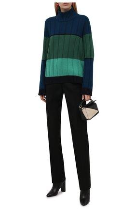 Женский кашемировый свитер LORO PIANA зеленого цвета, арт. FAL7027 | Фото 2 (Рукава: Длинные; Длина (для топов): Стандартные; Материал внешний: Кашемир, Шерсть; Стили: Кэжуэл; Женское Кросс-КТ: Свитер-одежда)