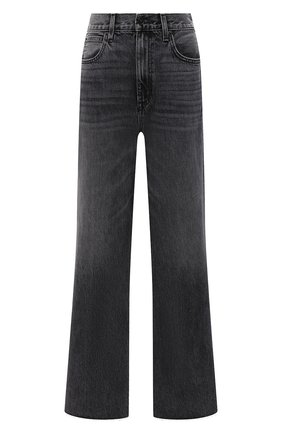 Женские джинсы SLVRLAKE серого цвета, арт. PF21/GRCJ707U/MNMN | Фото 1 (Материал внешний: Хлопок; Длина (брюки, джинсы): Стандартные; Стили: Кэжуэл; Кросс-КТ: Деним; Силуэт Ж (брюки и джинсы): Расклешенные)