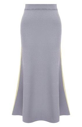 Женская юбка из вискозы LOEWE серого цвета, арт. S540Y17K40 | Фото 1 (Материал внешний: Вискоза; Длина Ж (юбки, платья, шорты): Миди; Стили: Кэжуэл; Кросс-КТ: Трикотаж)
