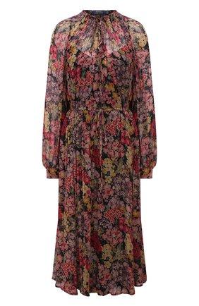 Женское платье из вискозы POLO RALPH LAUREN разноцветного цвета, арт. 211841928 | Фото 1 (Рукава: Длинные; Материал внешний: Вискоза; Длина Ж (юбки, платья, шорты): Миди; Материал подклада: Вискоза; Стили: Романтичный; Случай: Повседневный; Женское Кросс-КТ: Платье-одежда)