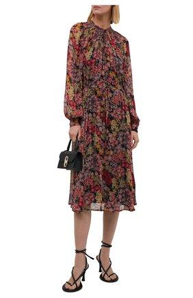 Женское платье из вискозы POLO RALPH LAUREN разноцветного цвета, арт. 211841928 | Фото 2 (Рукава: Длинные; Материал внешний: Вискоза; Длина Ж (юбки, платья, шорты): Миди; Материал подклада: Вискоза; Стили: Романтичный; Случай: Повседневный; Женское Кросс-КТ: Платье-одежда)
