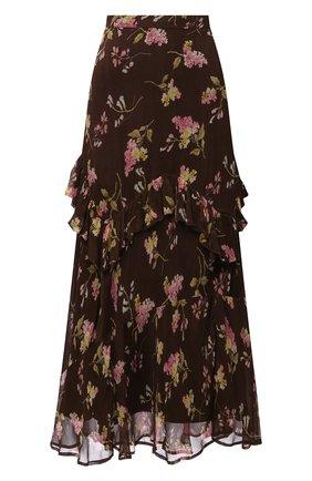 Женская юбка из вискозы POLO RALPH LAUREN коричневого цвета, арт. 211843118 | Фото 1 (Длина Ж (юбки, платья, шорты): Миди; Материал внешний: Вискоза; Материал подклада: Синтетический материал; Стили: Романтичный; Женское Кросс-КТ: Юбка-одежда)