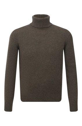 Мужской кашемировый свитер RALPH LAUREN хаки цвета, арт. 790846096 | Фото 1 (Материал внешний: Кашемир, Шерсть; Мужское Кросс-КТ: Свитер-одежда; Стили: Кэжуэл, Милитари; Принт: Без принта; Длина (для топов): Стандартные; Рукава: Длинные)
