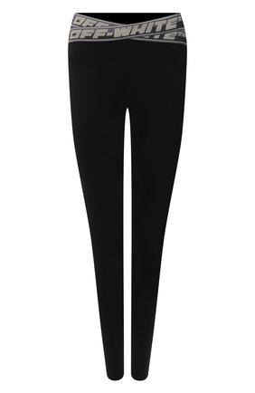 Женские леггинсы OFF-WHITE черного цвета, арт. 0WVG028F21JER001 | Фото 1 (Материал внешний: Синтетический материал; Стили: Спорт-шик; Длина (брюки, джинсы): Стандартные; Женское Кросс-КТ: Леггинсы-спорт)