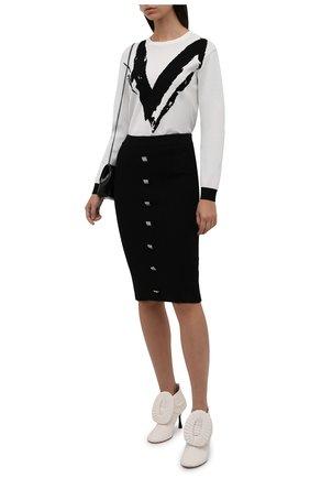 Женские кожаные ботильоны LOEWE кремвого цвета, арт. L814286X10 | Фото 2 (Каблук высота: Высокий; Материал внутренний: Натуральная кожа; Каблук тип: Шпилька; Подошва: Плоская)