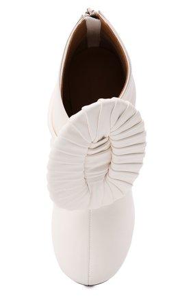 Женские кожаные ботильоны LOEWE кремвого цвета, арт. L814286X10 | Фото 5 (Каблук высота: Высокий; Материал внутренний: Натуральная кожа; Каблук тип: Шпилька; Подошва: Плоская)