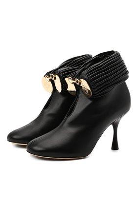 Женские кожаные ботильоны bracelet LOEWE черного цвета, арт. L814286X12 | Фото 1 (Материал внутренний: Натуральная кожа; Подошва: Плоская; Каблук высота: Высокий; Каблук тип: Шпилька)