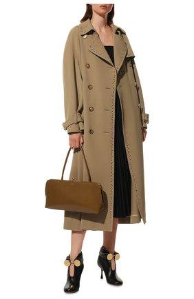 Женские кожаные ботильоны bracelet LOEWE черного цвета, арт. L814286X12 | Фото 2 (Материал внутренний: Натуральная кожа; Подошва: Плоская; Каблук высота: Высокий; Каблук тип: Шпилька)