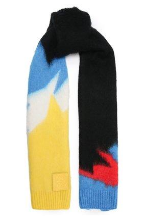 Женский шарф LOEWE черного цвета, арт. F655257X18   Фото 1 (Материал: Текстиль, Синтетический материал)
