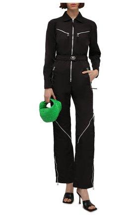 Женский комбинезон BOTTEGA VENETA темно-коричневого цвета, арт. 665680/VKIL0 | Фото 2 (Длина (брюки, джинсы): Стандартные; Рукава: Длинные; Материал внешний: Синтетический материал; Стили: Спорт-шик; Случай: Повседневный; Женское Кросс-КТ: Комбинезон-одежда)