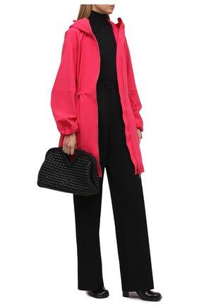 Женская парка BOTTEGA VENETA фуксия цвета, арт. 670158/V0200   Фото 2 (Материал подклада: Синтетический материал; Длина (верхняя одежда): До колена; Материал внешний: Синтетический материал; Рукава: Длинные; Стили: Спорт-шик; Кросс-КТ: Куртка)