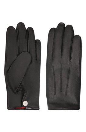 Мужские кожаные перчатки HUGO черного цвета, арт. 50456602 | Фото 2 (Мужское Кросс-КТ: Кожа и замша)