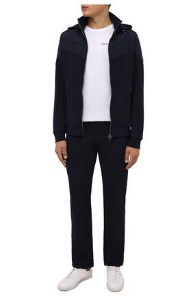 Мужские хлопковые брюки BOGNER темно-синего цвета, арт. 18856543 | Фото 2 (Длина (брюки, джинсы): Стандартные; Материал внешний: Хлопок; Кросс-КТ: Спорт; Мужское Кросс-КТ: Брюки-трикотаж; Стили: Спорт-шик)