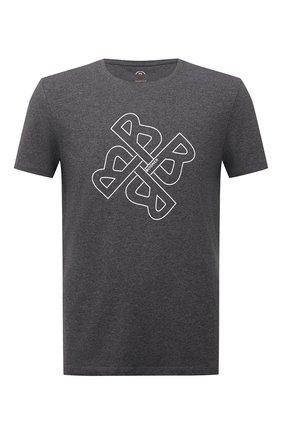 Мужская хлопковая футболка BOGNER серого цвета, арт. 58556604 | Фото 1 (Материал внешний: Хлопок; Рукава: Короткие; Длина (для топов): Стандартные; Принт: С принтом; Стили: Кэжуэл)
